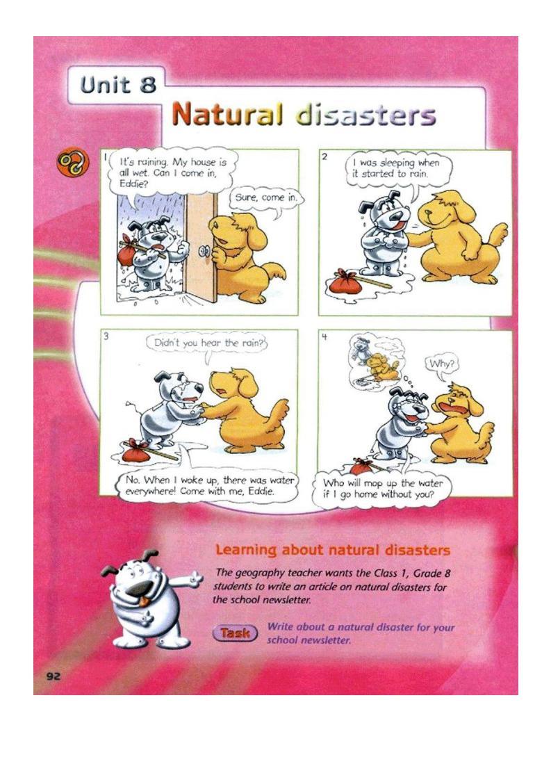 Unit 8 Natural disasters